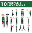 couple in love icons vector image