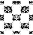 Cute little wise old owl seamless pattern vector image vector image