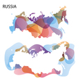design map russia background vector image vector image