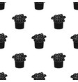 flower in the pot icon in black style isolated on vector image vector image