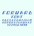 forward cursive font alphabet l vector image