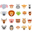 funny exotic animals vector image vector image