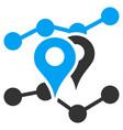 geo trends flat icon vector image vector image