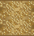 gold baroque seamless pattern vector image vector image