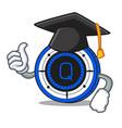 graduation qash coin character cartoon vector image vector image