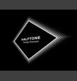 halftone distort rhombus in perspective vector image vector image