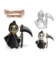 Halloween monsters spooky reaper EPS10 file vector image