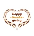 Happy thanksgiving day icon vector image vector image