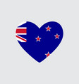 heart coloring flag new zealand vector image vector image