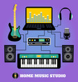 Home music studio vector image