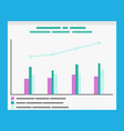 infographics with explanation and timeline graphs vector image vector image