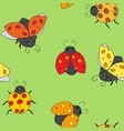 ladybugs seamless background vector image vector image