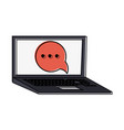 laptop computer frontview icon imag vector image vector image