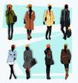 london fashion street model fall vector image vector image