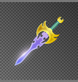 magic broadsword isolated game element vector image vector image