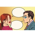 Male and female dialogue before the kiss vector image vector image