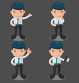 Man Business Cartoon Set vector image
