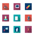 Medicine and hospital set icons in flat style Big vector image vector image