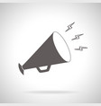 megaphone icon simple style vector image