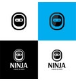 minimal simple ninja logo and icon vector image