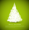 modern card with abstract christmas tree vector image vector image