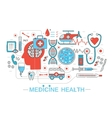 Modern Flat thin Line design science medical vector image