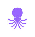 octopus cartoon style isolated devilfish vector image vector image