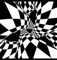 optical illusion abstract tunnel vector image vector image
