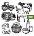 Organic Farm Set vector image vector image