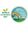 paper art of the world environment day 5 june vector image vector image
