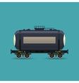Railway Tank Car Isolated vector image vector image
