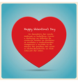 Red Heart Poster vector image vector image