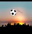 saint petersburg skyline with football ball vector image vector image