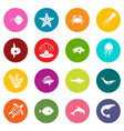 sea animals icons many colors set vector image vector image
