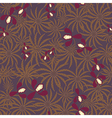 Seamless exotic pattern with orchids flowers vector image