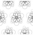 seamless pattern with lotus and circles on white vector image vector image