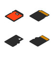 set of 3d isometric memory cards vector image