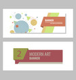 set of abstract geometric design banner web vector image