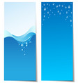 Set of abstract water banners vector image vector image