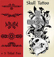 Skull tattoo illustration vector | Price: 1 Credit (USD $1)