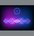 sound wave voice assistant concept vector image vector image