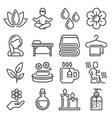 spa and relax icons set on white background vector image vector image
