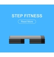 Step for aerobics training vector image