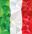 Stylized flag of Italy Low poly style vector image
