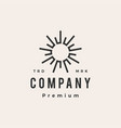 sun flare light hipster vintage logo icon vector image vector image