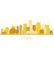taguig philippines skyline golden silhouette vector image vector image