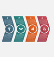 timeline arrows four positions vector image