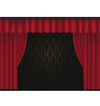 tre curtain vector image