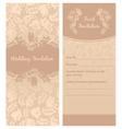 wedding invitation flowers ornament background vector image vector image