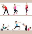 women doing aerobic exercises